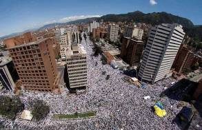 One Million Voices Against the FARC, Bogota, organized on Facebook